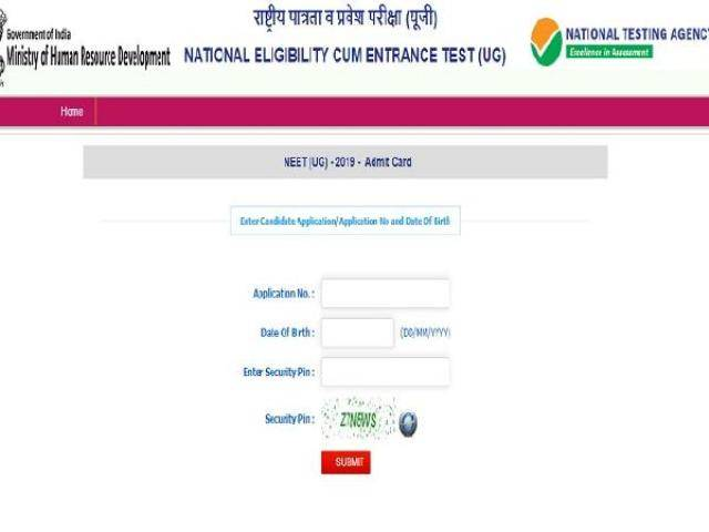 Nta Neet 2019 Check New Exam Centres New Admit Cards Ntaneet Nic In